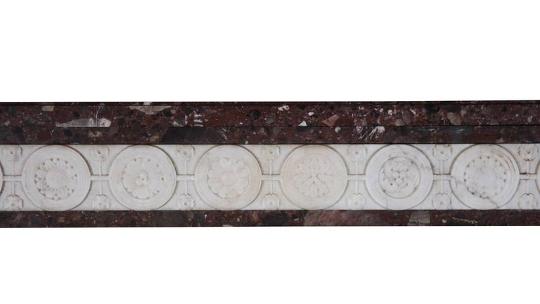 Carved 18th Century Directoire Period Fine French Antique Fireplace Mantel For Sale