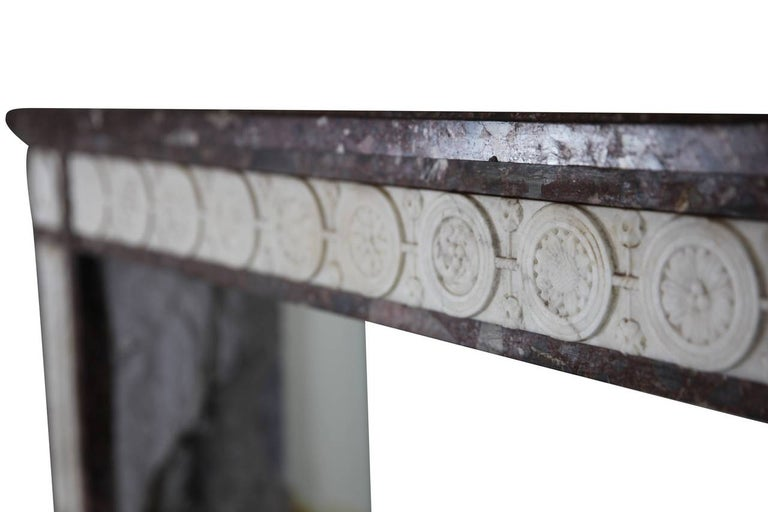 18th Century Directoire Period Fine French Antique Fireplace Mantel For Sale 1
