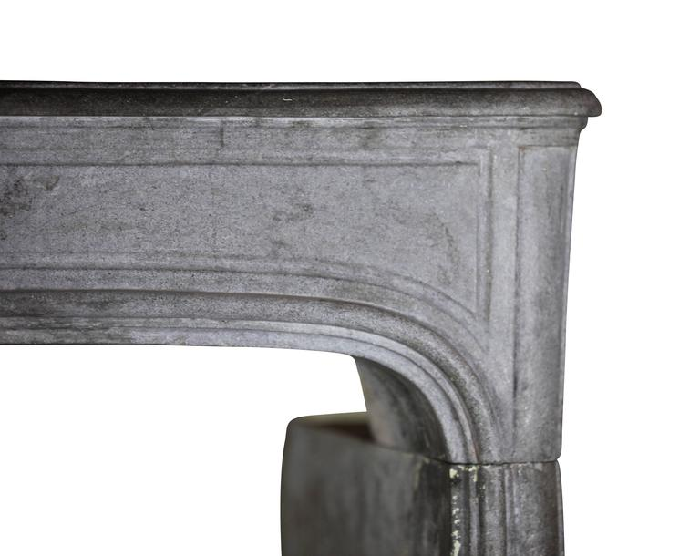 Carved 18th Century antique fireplace Stone Mantel from the Regency Period For Sale