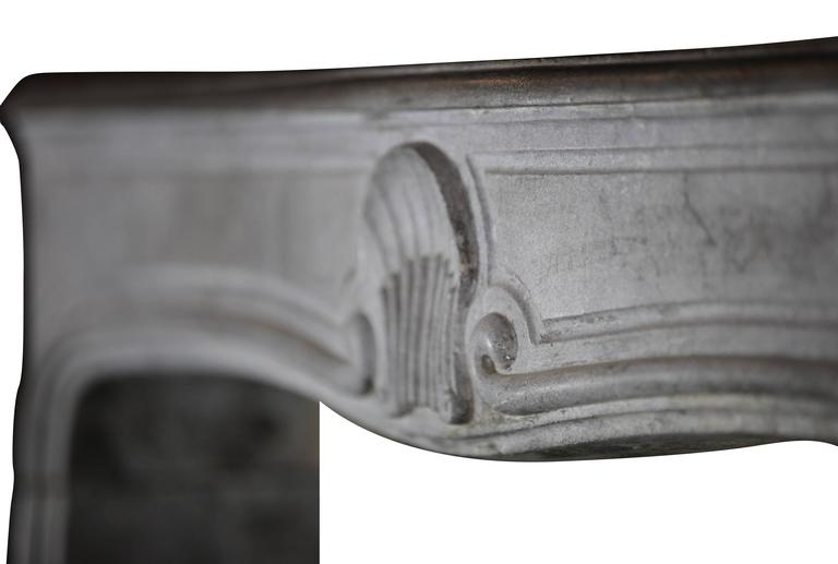 18th Century antique fireplace Stone Mantel from the Regency Period 8