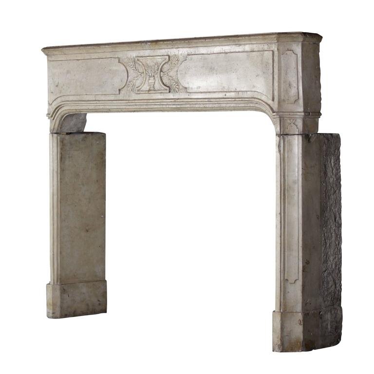early 18th century hard stone antique fireplace mantel for