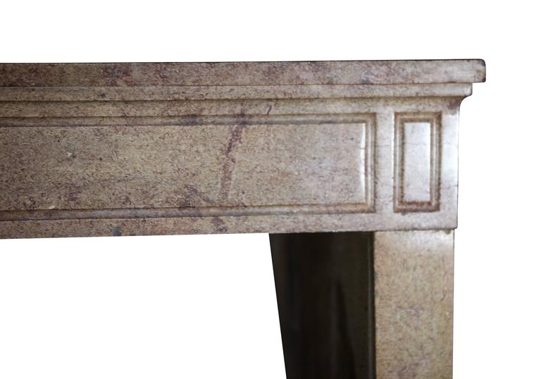 18th century stone antique fireplace mantel from the louis
