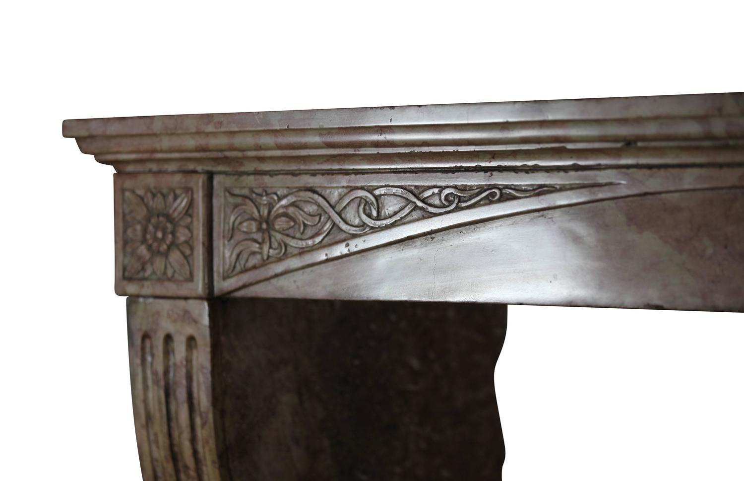 Unusual 19th Century Antique Fireplace Mantel In Hardstone For Sale At 1stdibs