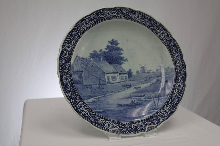 19th Century Delft Charger Royal Sphinx For Sale At 1stdibs