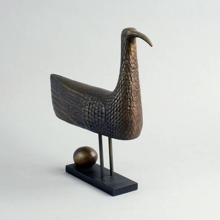 """Sunbird"" Limited Edition Bronze Sculpture by Stig Lindberg, 1970 3"