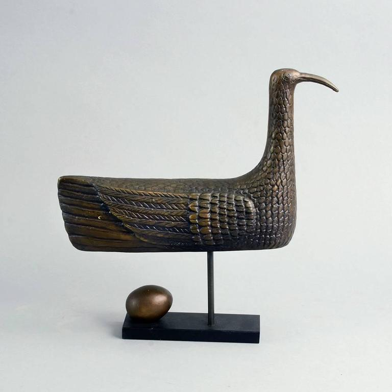 """Sunbird"" Limited Edition Bronze Sculpture by Stig Lindberg, 1970 8"