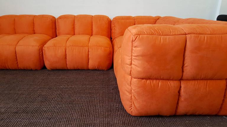 Monumental 1970s Tufted Modular Sofa By Marge Carson For