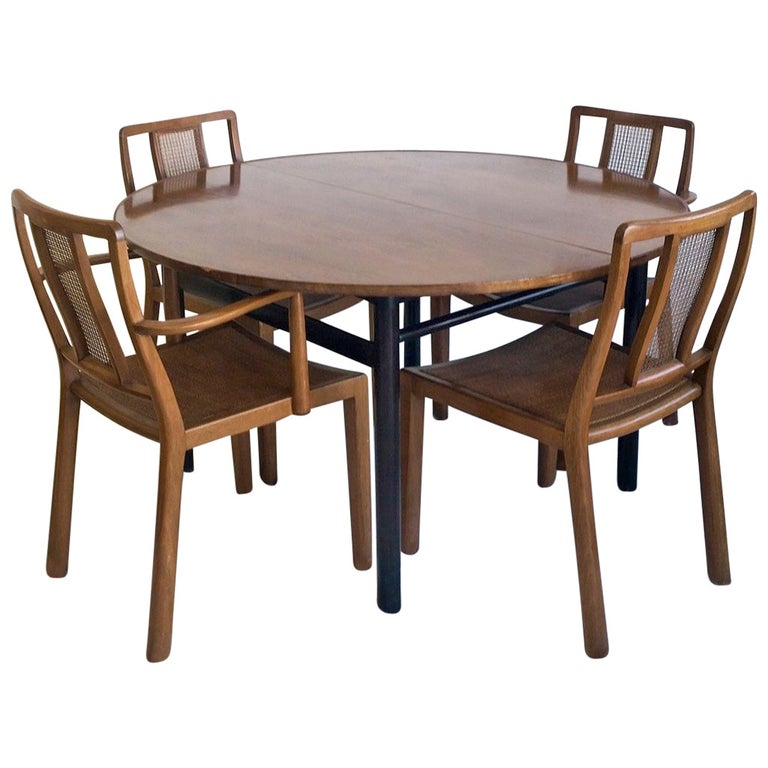 Set of Four Edward Wormley for Dunbar Chairs and Table For Sale