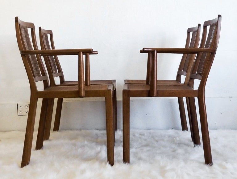 American Set of Four Edward Wormley for Dunbar Chairs and Table For Sale