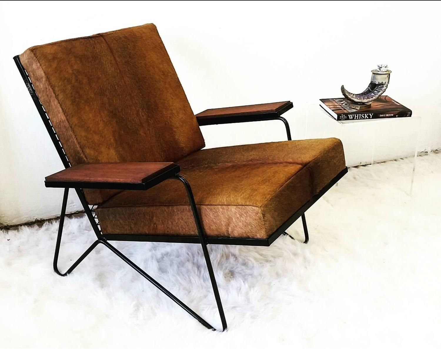 ... and Cowhide Lounge Chair and Danish Modern Rocking Chair at 1stdibs