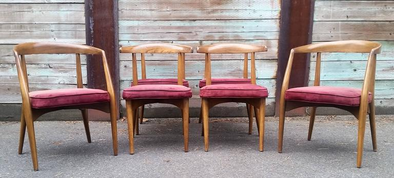 Rare Set Of Six Lawrence Peabody Sculptural Dining Chairs