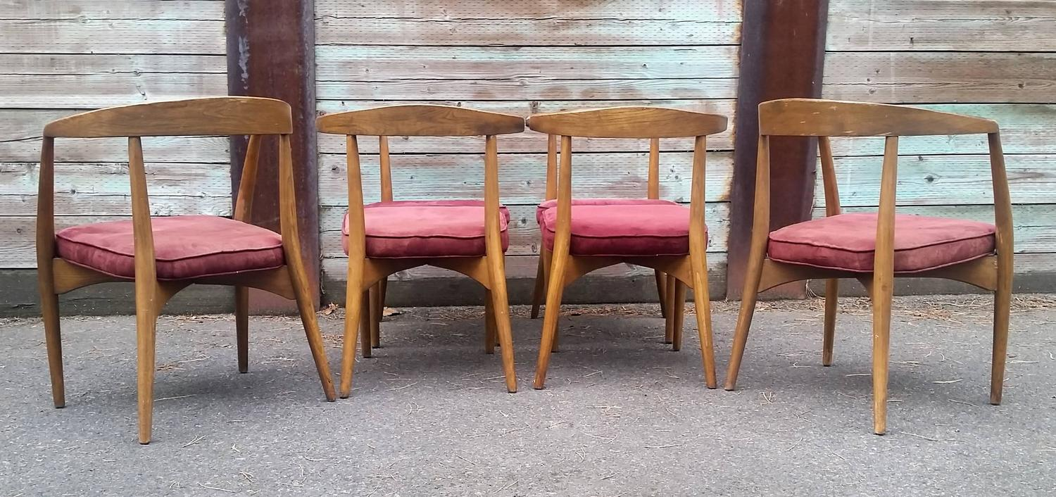 rare set of six lawrence peabody sculptural dining chairs dining table richardson brothers dining table
