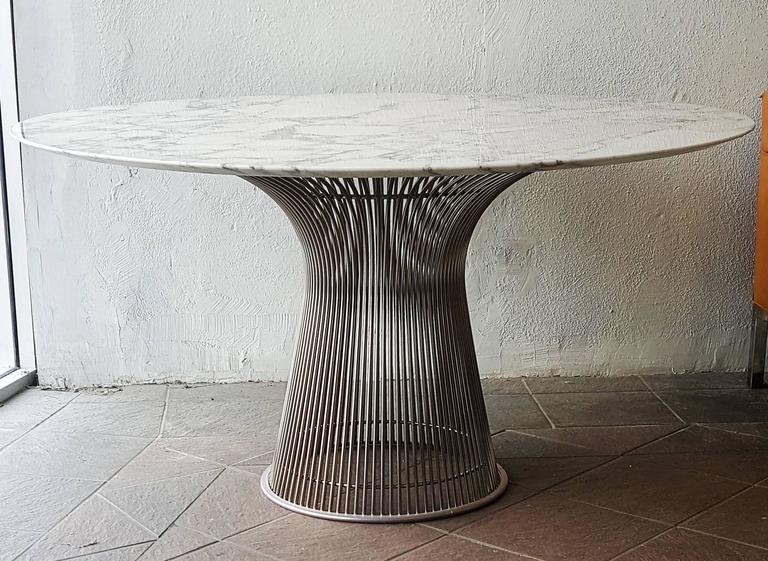 A Truly Stunning Dining Table Warren Platner For Knoll Polished Nickel And Steel Base