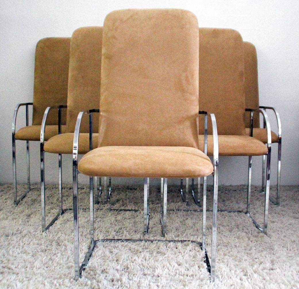 Milo Baughman for DIA Chrome Dining Chairs at 1stdibs