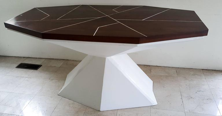 Alberto Vieyra Quot White Dining Table Quot At 1stdibs