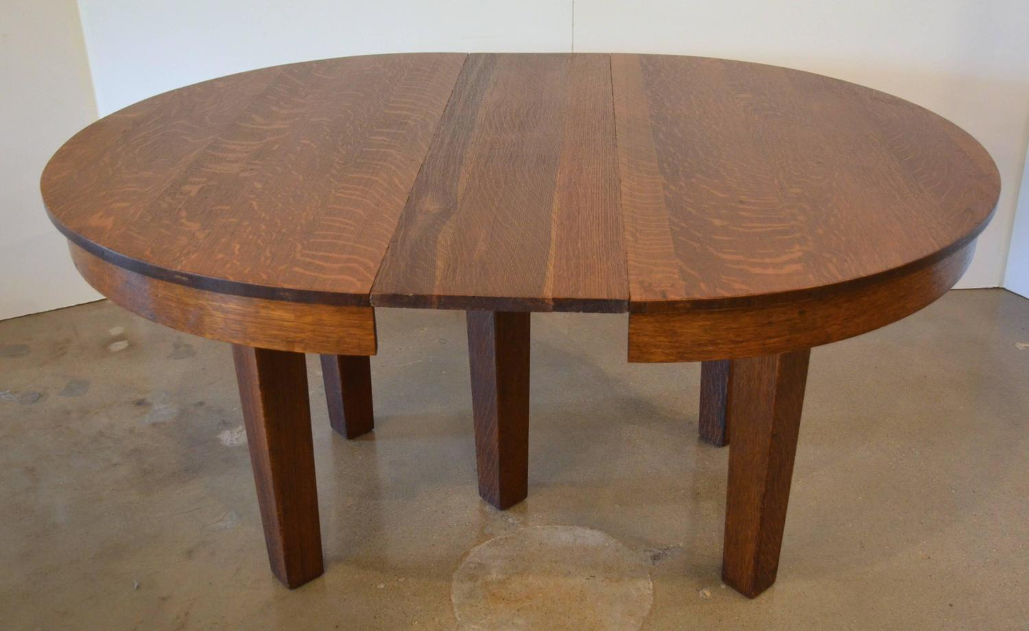 l jg stickley round dining table at 1stdibs