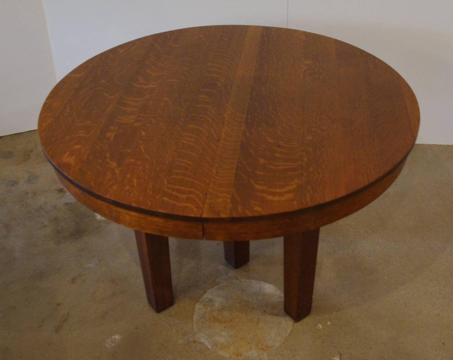 L Amp Jg Stickley Round Dining Table At 1stdibs