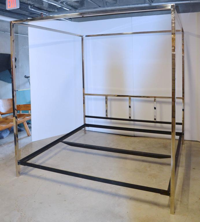 Pace Collection Chrome King Bed At 1stdibs