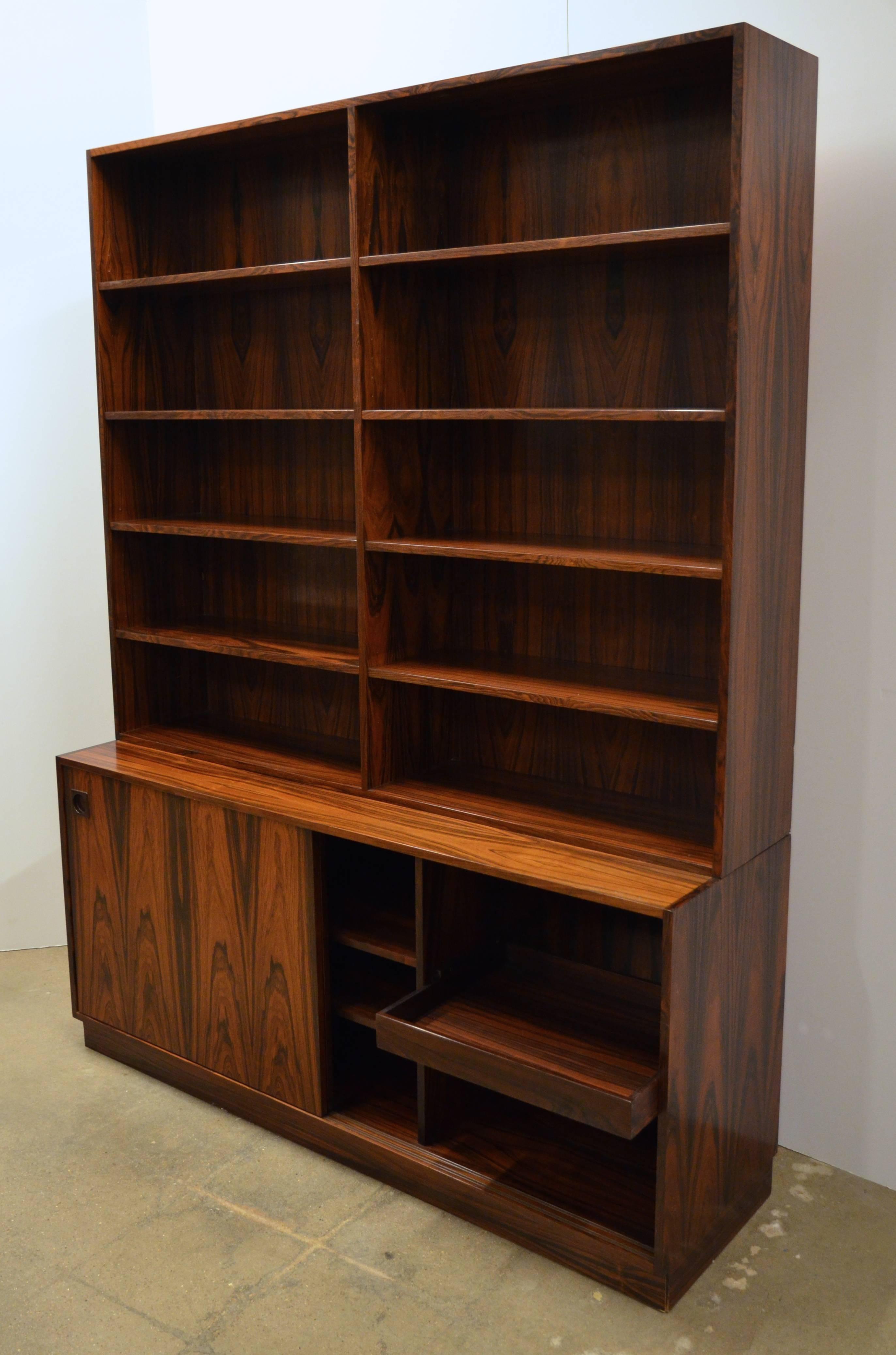 Mid Century Modern Danish Rosewood Bookcase For Sale At 1stdibs