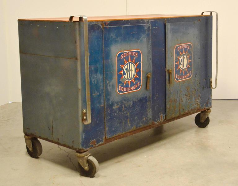 Sun Service Equipment Automotive Steel Cabinet At 1stdibs