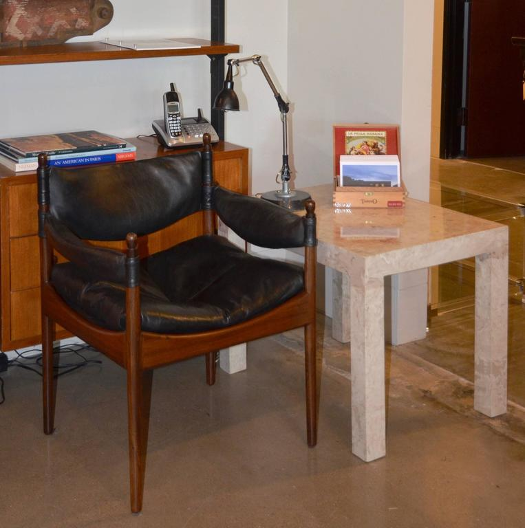 Marble Parsons Style Side Table For Sale 4