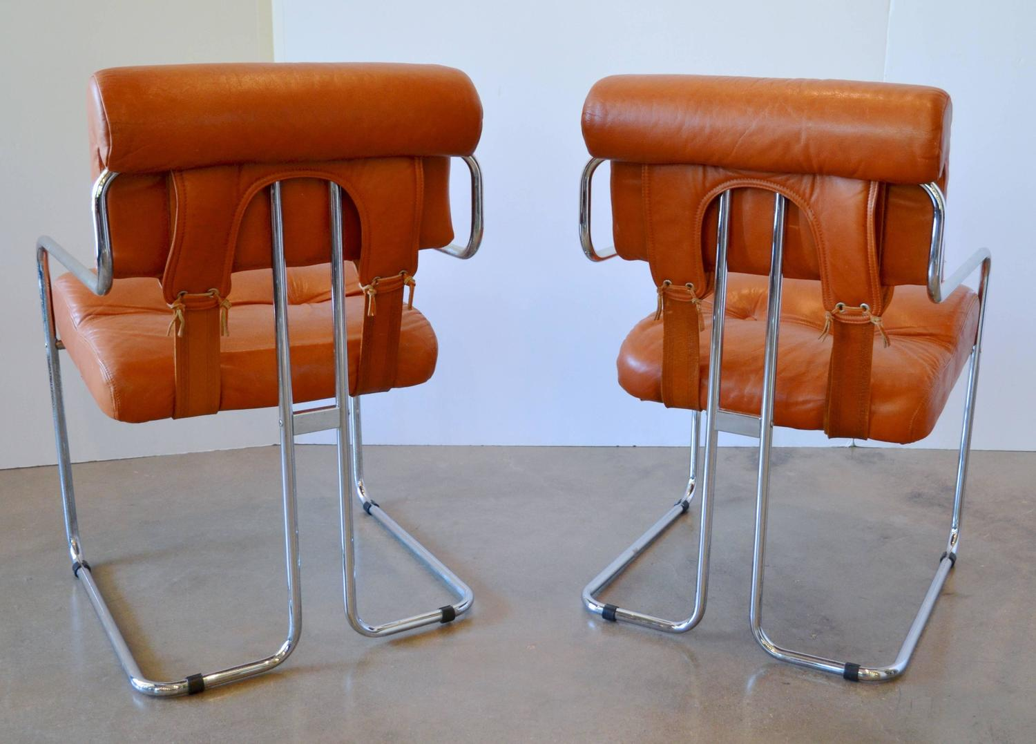 Leather Tucroma Dining Chairs For Pace And Amber Acrylic And Glass Dining Tab