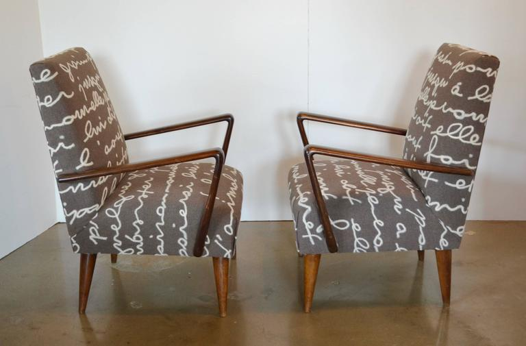 Italian mid century z lounge chair pair for sale at 1stdibs for Z chair mid century
