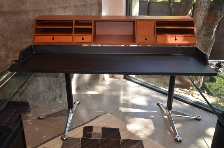 Mid-Century Modern Herman Miller Desk by Bruce Burdick Fully Adjustable Components For Sale
