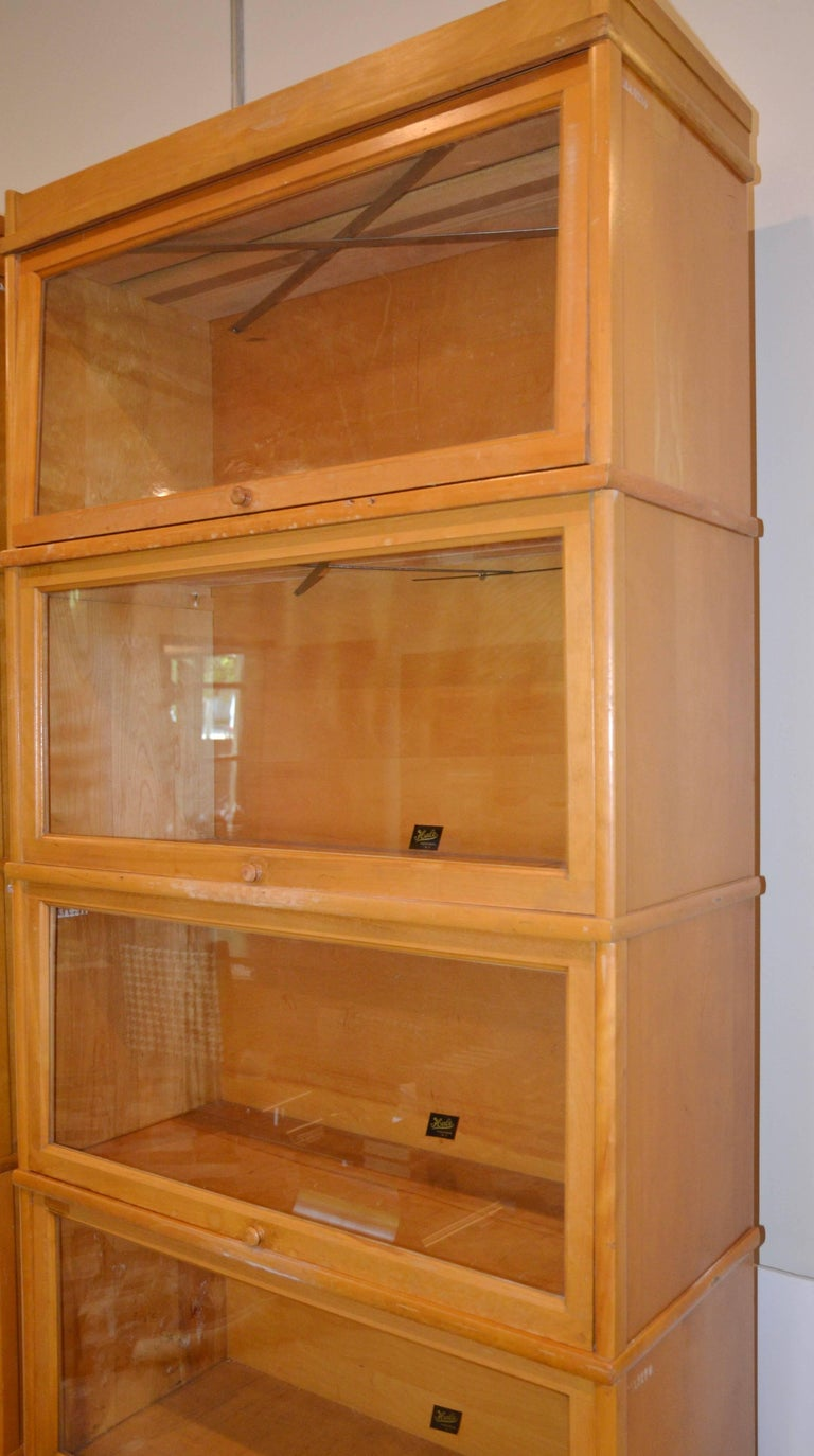 Barrister S Bookcase In Maple And Glass By Hale 1950 At