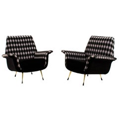 Pair of Italian Mid-Century Modern Lounge Chairs, 1960s