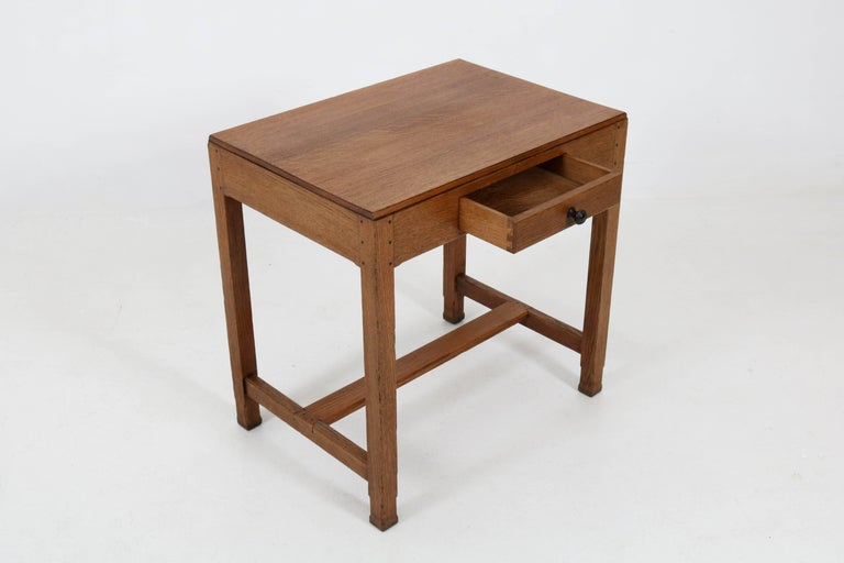 Oak Art Deco Haagse School Writing Table by Paul Bromberg for H.P. Pander, 1920s For Sale 2