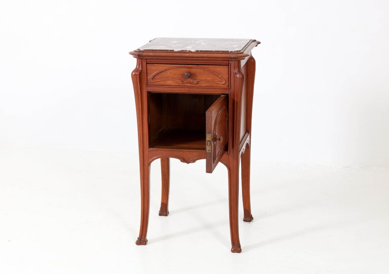 Pair of French Art Nouveau Majorelle Style NightStands or Bedside Tables, 1900s For Sale 2