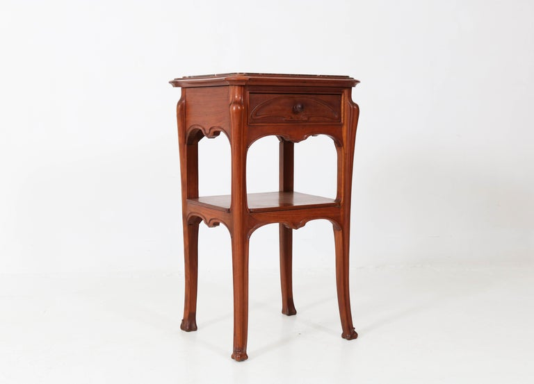 Pair of French Art Nouveau Majorelle Style NightStands or Bedside Tables, 1900s For Sale 4