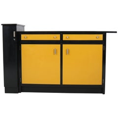 Black and Yellow Art Deco Haagse School Credenza or Sideboard by Frits Spanjaard