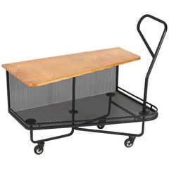 """French Mid-Century Modern Serving Trolley """"Extra Dry"""" by Mathieu Matégot, 1952"""