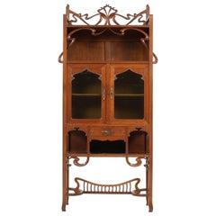 Oak Belgium Art Nouveau Horta Style Cabinet or Buffet, 1900s