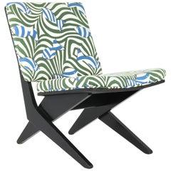 Niederländische Mid-Century Modern FB18 Scissor Stuhl von Jan Van Grunsven für Pastoe, 1959