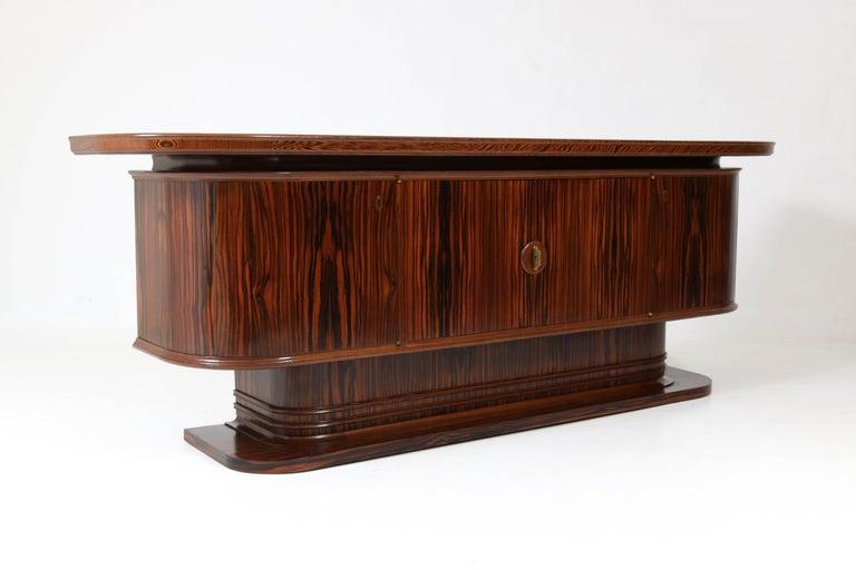 Macassar Ebony Dutch Art Deco Sideboard or Credenza by Gebroeders Reens, 1930s For Sale 4