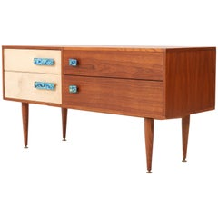 French Teak Mid-Century Modern Credenza or Dry Bar, 1960s