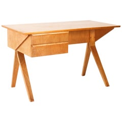 Mid-Century Modern Eb02 Birch Series Desk by Cees Braakman for UMS Pastoe, 1952