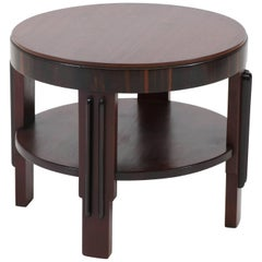 Mahogany Art Deco Amsterdam School Coffee Table by Fa.Drilling Amsterdam, 1920s