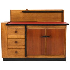 Art Deco Haagse School Oak Sideboard or Credenza by Jan Brunott, 1920s