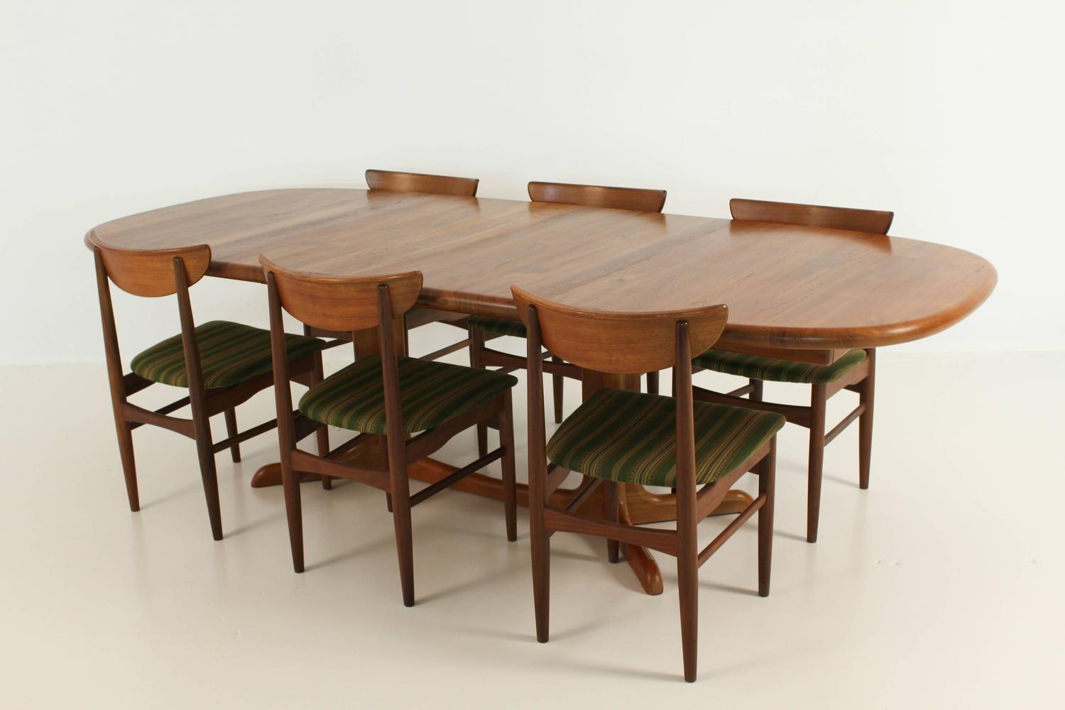 Magnificent Mid Century Modern Dining Table By Glostrup Denmark At