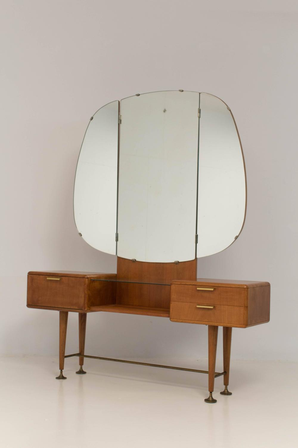 Rare mid century modern vanity or dressing table by a a patijn for zijlstra at 1stdibs - Modern bathroom dressing table ...