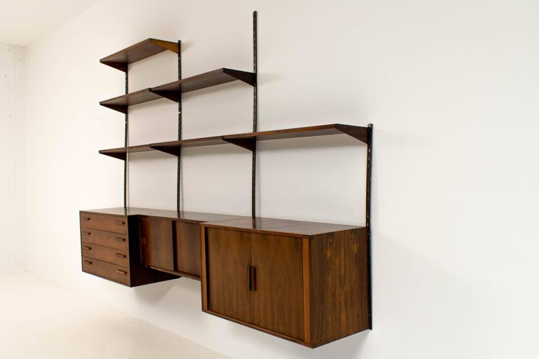 Stylish Wall Mounted Shelving Unit By Kai Kristiansen For Fm Møbler