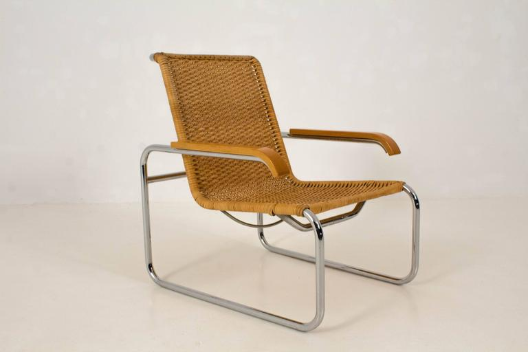Marcel Breuer Stoel : B 35 lounge chair by marcel breuer for thonet 1970s at 1stdibs