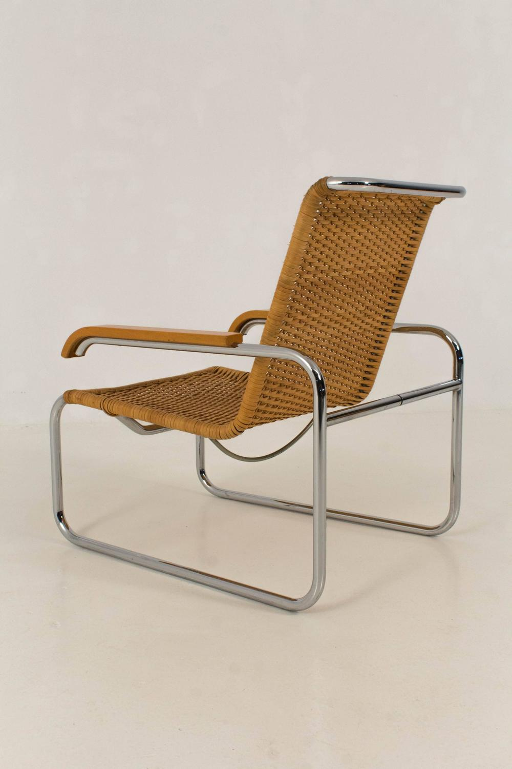b 35 lounge chair by marcel breuer for thonet 1970s for sale at 1stdibs. Black Bedroom Furniture Sets. Home Design Ideas