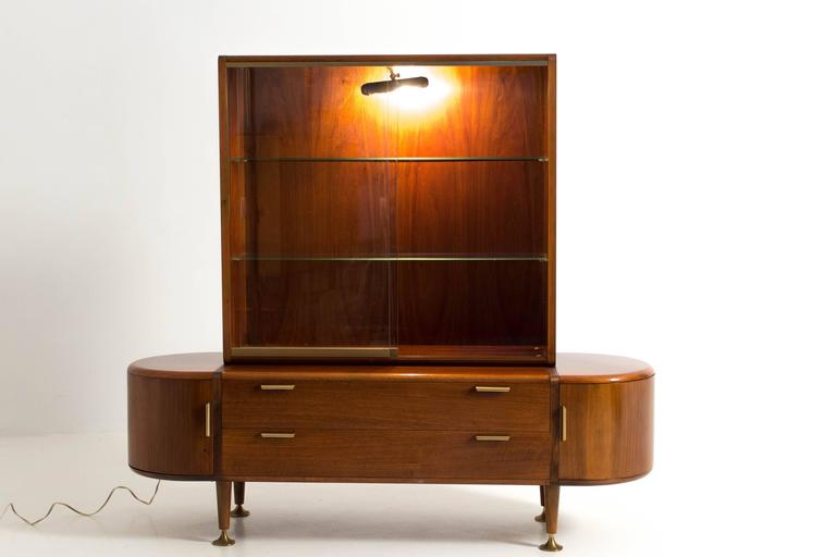 stunning mid century modern vitrine by a a patijn for poly z at 1stdibs. Black Bedroom Furniture Sets. Home Design Ideas