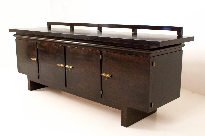 rare and important art deco bauhaus sideboard or credenza. Black Bedroom Furniture Sets. Home Design Ideas