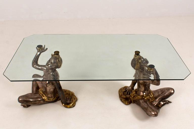 Hollywood Regency Blackamoor Coffee Table, 1970s 3